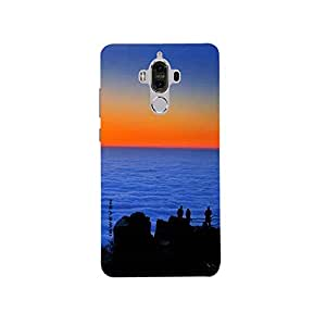 iSweven Good_Evening design printed matte finish multi-colored back case cover for Huawei Mate 9