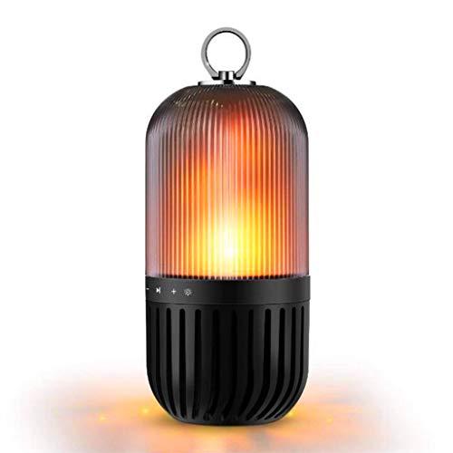 Flamme Nachttischlampe mit Bluetooth Lautsprecher Nachtlicht Romantische Stimmungslichter USB Wiederaufladbare Tragbare IP65 Wasserdichte Atmosphäre Beleuchtung für Zuhause Camping Außen Reise
