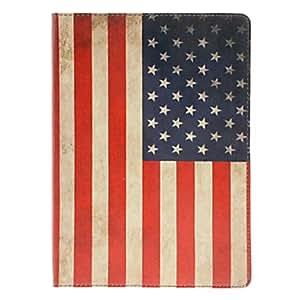 WQQ Retro Style American Flag-Muster PU-Ganzkörper-Case mit Ständer für iPad Air