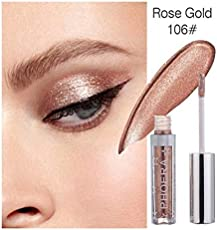 Magnificent Metals Glitter Glow Liquid Mineral Eyeshadow Makeup Pearlescent Eyeshadow (106 rose gold)