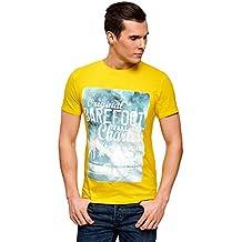 oodji Ultra Hombre Camiseta con Estampado de Verano