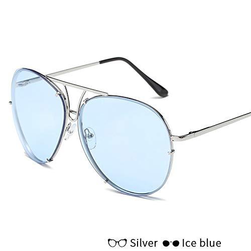 Aprigy - Fashion Lady Maxi-Pilot-Sonnenbrille-Frauen 2017 Sonnenbrillen für Männer Großen Glas-Rahmen-Brillen [D]