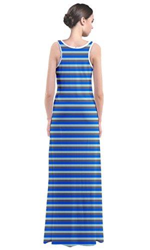 CowCow - Robe - Femme Multicolore Noir et blanc bleu ciel