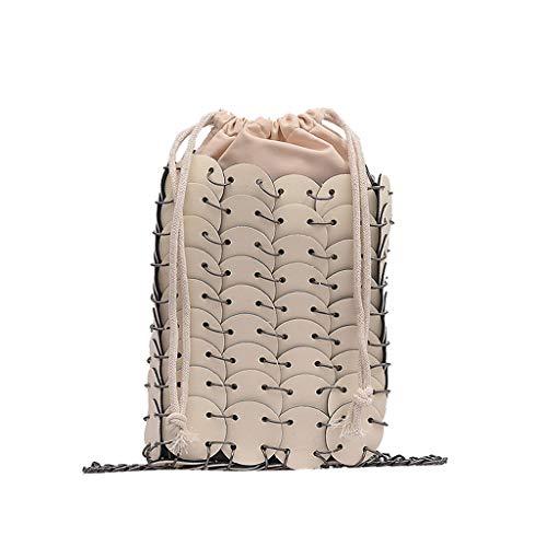 hahashop2 Damen Umhängetasche Schultertasche Damenhandtasche Handtasche Crossbody Messenger Bag Shopper Tasche Premium Tote Retro kleine quadratische Tasche Schulter Kette Nähen Diagonale