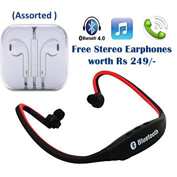 SAMSUNG Galaxy E7 Compatible Ceritfied Wireless Bluetooth Mobile Phone Sports Earphones with call functions (Assorted Color) with FREE GIFT