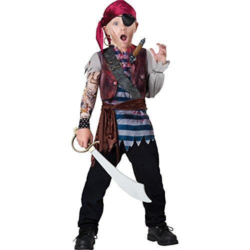Jungen Deluxe Dead Man 's Brust Pirat Halloween (Kostüm Piraten Incharacter)