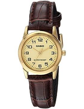 Casio Uhr mit japanischem Quarzuhrwerk Woman Ltp-V001Gl-9B 31 mm