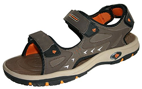 mens-dunlop-sports-beach-trekking-walking-hiking-velcro-sandals-sizes-7-12-9-uk-brown-orange