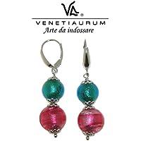 Venetiaurum - Orecchini in vetro di Murano e Argento 925 Made in Italy