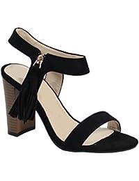 By Shoes - Sandale Talon Carré Style Daim - Femme