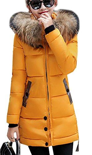 Magike Manteau Chaud Doudoune Femme Veste Capuche Fourrure Faux Long Hiver Jacket Blouson Causal Marro