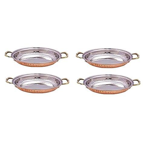 4 Stück Ovale Schale Serviergeschirr Teller Hotelgeschirr Geschirr Utensil Gehämmert Platter (Essgeschirr Platter)