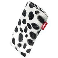 fitBAG Bonga Dalmatiner Handytasche Tasche aus Fellimitat mit Microfaserinnenfutter für HTC One mini 2