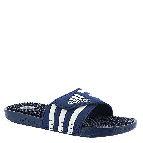adidas Unisex Erwachsene Adissage Beach & Pool Schuhe, Blau - Dark Blue/FTWR White/Dark Blue - Größe: 47 EU - Erholung Konzentrieren