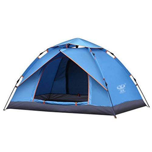 CATRP Marca Tenda da Campeggio a 2 Persone Sturdy Automatica istantanea Pop-up Backpacking Tende Ultralight Impermeabile per l\'escursione Camping Travel, Parasole (Colore : Blu)