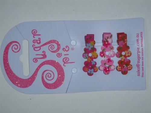 Sugar Pie S01C072 - Pinzas para el pelo con formas de flores y decoración