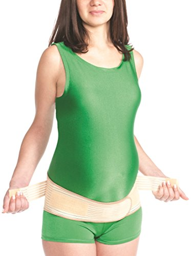 Geburt Bandage Schwangerschaft Umstand Gurt Rücken Bauch Stütze 4502 beige XL (Schwangerschaft Bauch-stütze)