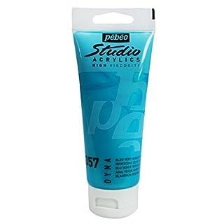 PEBEO 100 ml Studio Acrylic Paint, Iridescent Blue Green