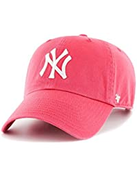 Gorra 47 Brand – Mlb New York Yankees Clean Up Curved V Relax Fit rojo  fed6785fc4a