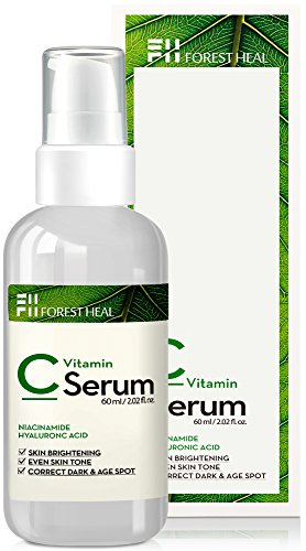 Vitamin C Serum For Face - Dark Spot Corrector with Hyaluronic Acid, Niacinamide - Anti Aging, Wrinkle Repair and Skin Brightening - Forest Heal (60 ml/2.02 fl.oz.)