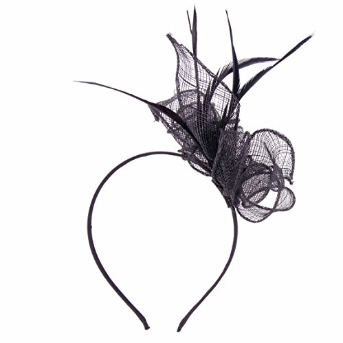 Damen Sinamay Haarreif Aliceband Fascinator Hochzeit Cocktail