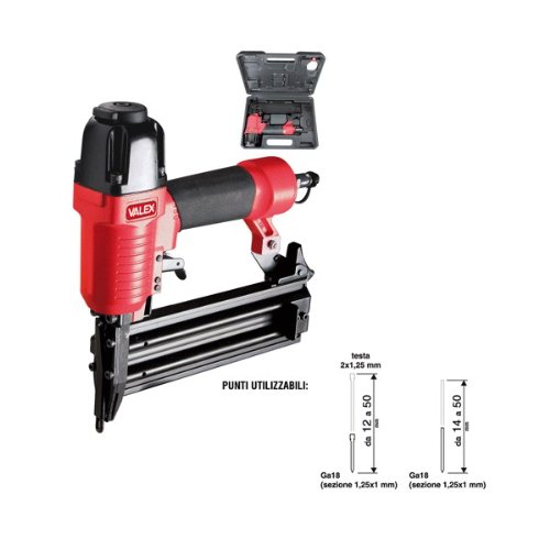 Valex F50, chiodatrice pneumatica per chiodi da 12 a 50 mm