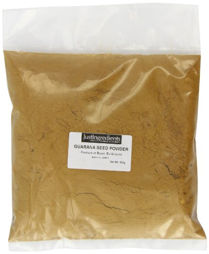 JustIngredients Guaranásamen-Pulver, Guarana seed Powder, 1er Pack (1 x 500 g)