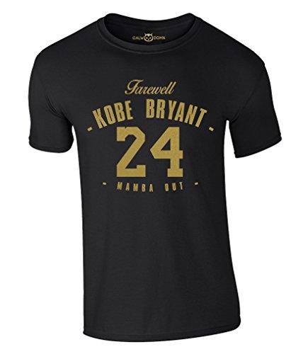 Farewell Kobe Bryant 24 T-Shirt Mamba Out (M)