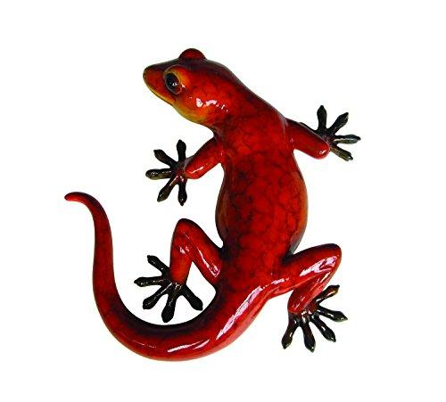 Vivid Arts Gecko - Adorno de Jardín Brillante, Rosso