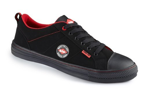 Lee Cooper Scarpe antinfortunistiche lcshoe054SB/SRA Baseball scarpe con punta in acciaio, nero (nero), 42 EU