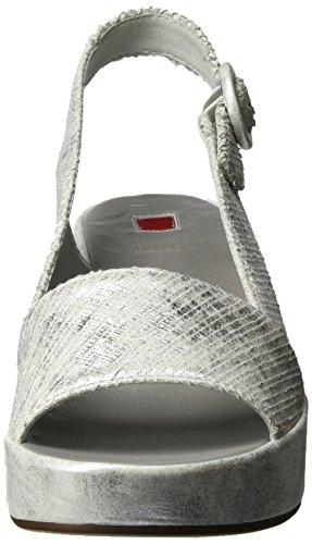 Högl 3-10 3206, Sandales À Plateforme Pour Femmes Silver (silber7600)