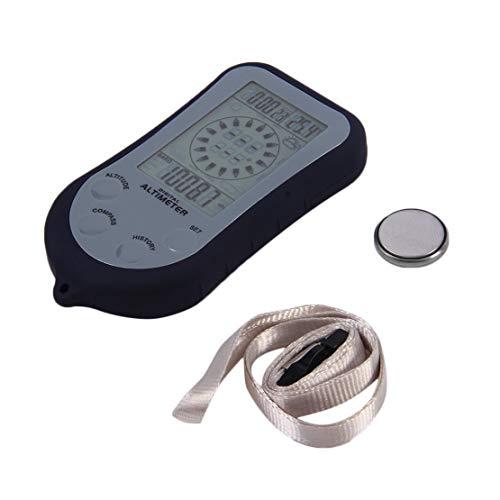 IPX 4 Impermeable LCD Digital Mini Brújula Portátil Altímetro Barómetro para Pesca...