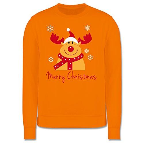 Weihnachten & Silvester - Merry Christmas Rentier - Herren Premium Pullover Orange