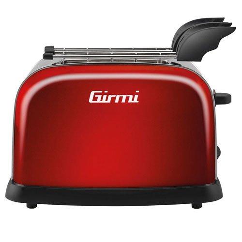 Girmi GIR0TSP55R - Tostadora, color rojo (potencia 800 W)