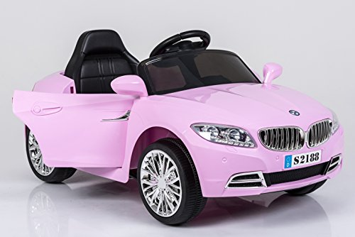 Ricco S2188SE Kids Electric BMW Style Coupe Ride on Car with LED Lights Music Parental Remote Control (PINK)