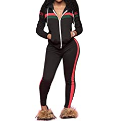 32f72247108 Chic to Max Women s 2 PCS Plus Size Tracksuit Sets Outfits Ho .
