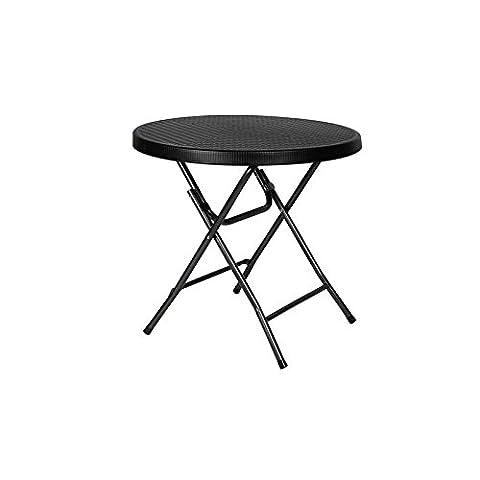 Table Ronde Legere - PEREL FP80R Table ronde pliable Multicolore 80
