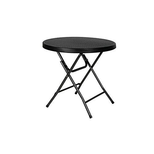 PEREL FP80R Table ronde pliable Multicolore 80 x 74 cm