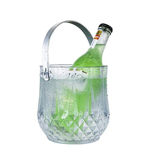 YYZC Acryl Crystal Ice Fass Eimer transparent Eiskübel praktisch Champagner Eimer Bier Eimer Saft Fass Wassertopf Fass Eimer (Color : 4) - Fässer Saft