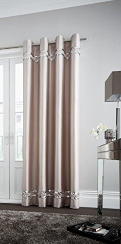 Comfy Nights Diva Design Curtains In All Sizes (Champagne, 90×90)