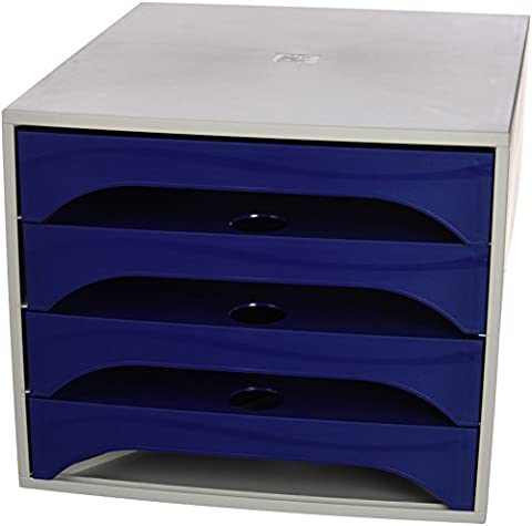 5 Star 2286104AD Office Box 4 Drawers Mesh – Color: Blue