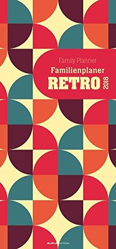 Familienplaner Retro 2018 - Familientermine / Familientimer (21 x 45) - 5 Spalten - Wandplaner, Buch