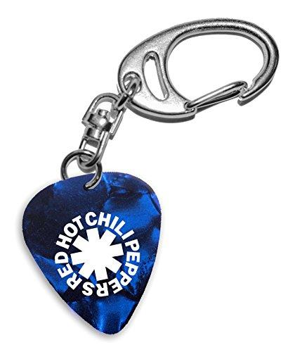 Red Hot Chili Peppers Band Logo Gitarre Plektrum Blue Pearl Keyring Schlüsselanhänger (H) (Red Hot Chili Peppers-logo)
