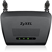 Zyxel N300 Wireless Cable Router per Gaming e Media con 2 Antenne Omni 5 dBi [NBG418NV2]