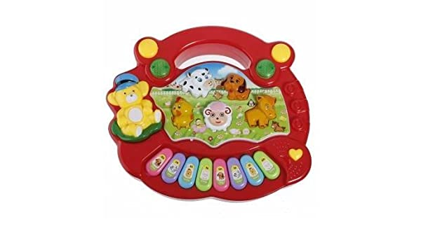 122e58b38d1c Buy Baby Kids Animal Farm Keyboard Electrical Piano Child Musical Toy  Online at Low Prices in India - Amazon.in