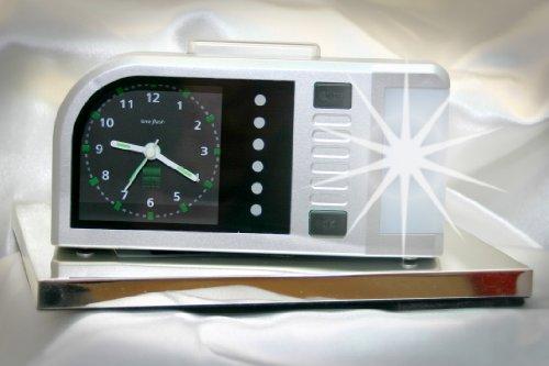 Analoger Lichtwecker Humantechnik Time Flash, Silber