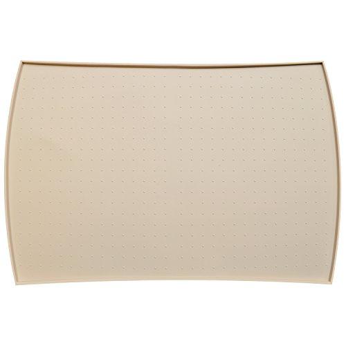 PetFusion Napfunterlage aus hochwertigem Silikon [anti-microbiell, anti-allergisch, wasserabweisend & Schutz vor Flecken] (Groß, Beige) - 61 x 41 x 1 CM