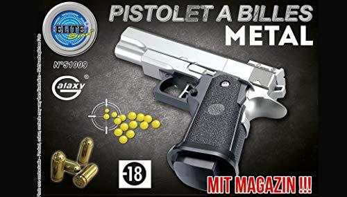 (KOSxBO® Robuste Elite Pistole mit Metallschlitten mit Magazin inklusive Munition - 0,5 Joule ab 14 Jahren)