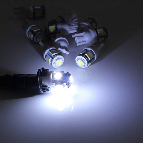 Neuftech 10 X Bombilla T10 5 LED 5050 SMD 12V Luz Coche Trasera Lámpara,Blanco