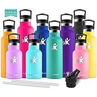 KollyKolla Botella de Agua Acero Inoxidable Termica Oficina Termos Ecológica Frascos Térmicos Deportiva con Pajita y